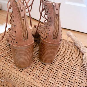 Jeffrey Campbell Shoes - Jeffrey Campbell Cors Star Cut Out Lace Up Booties